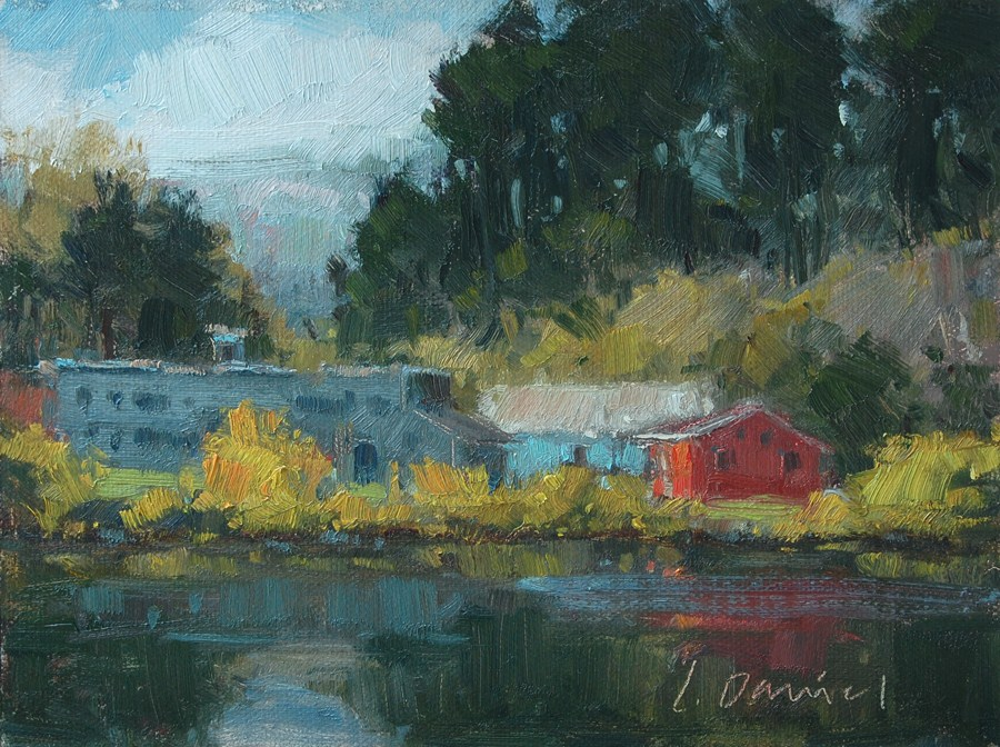 """River Secrets - Auction for Hurricane Sandy Victims"" original fine art by Laurel Daniel"