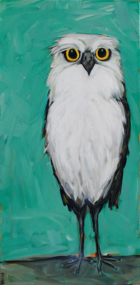 """""""Fred the Owl"""" original fine art by Kandice Keith"""