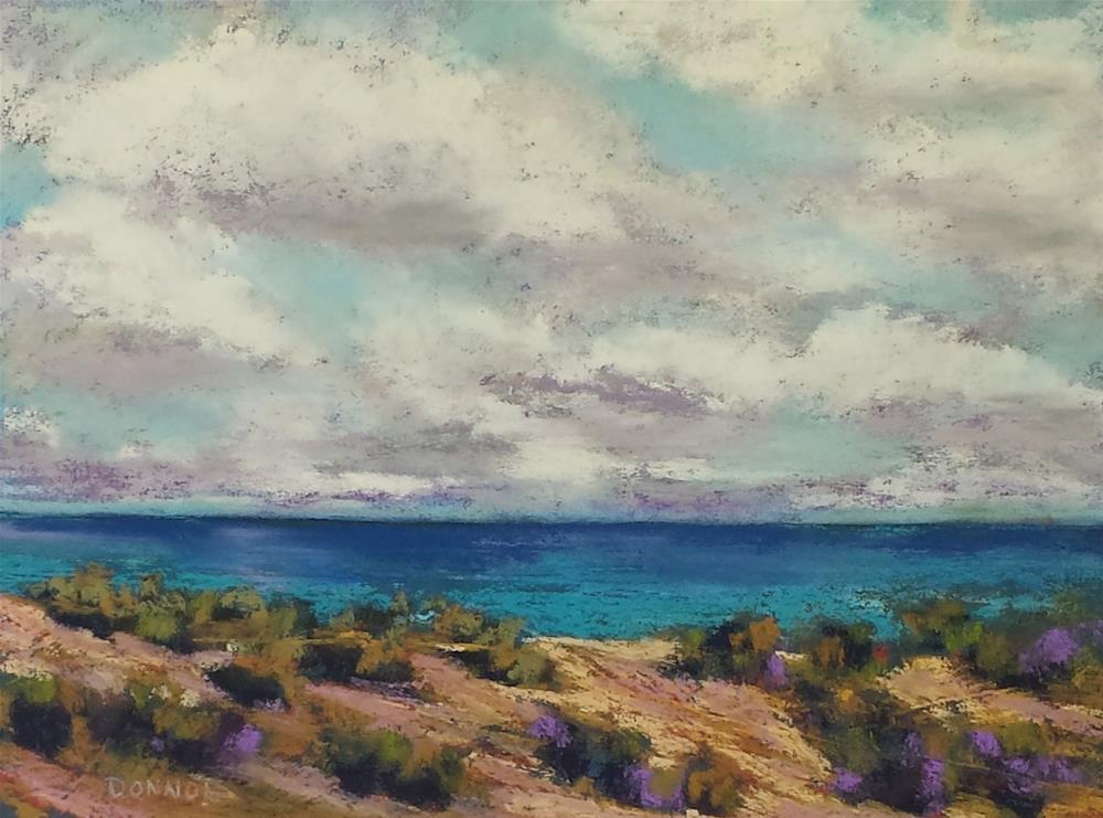 """Cloudy Elegance"" original fine art by Donna Donnon"
