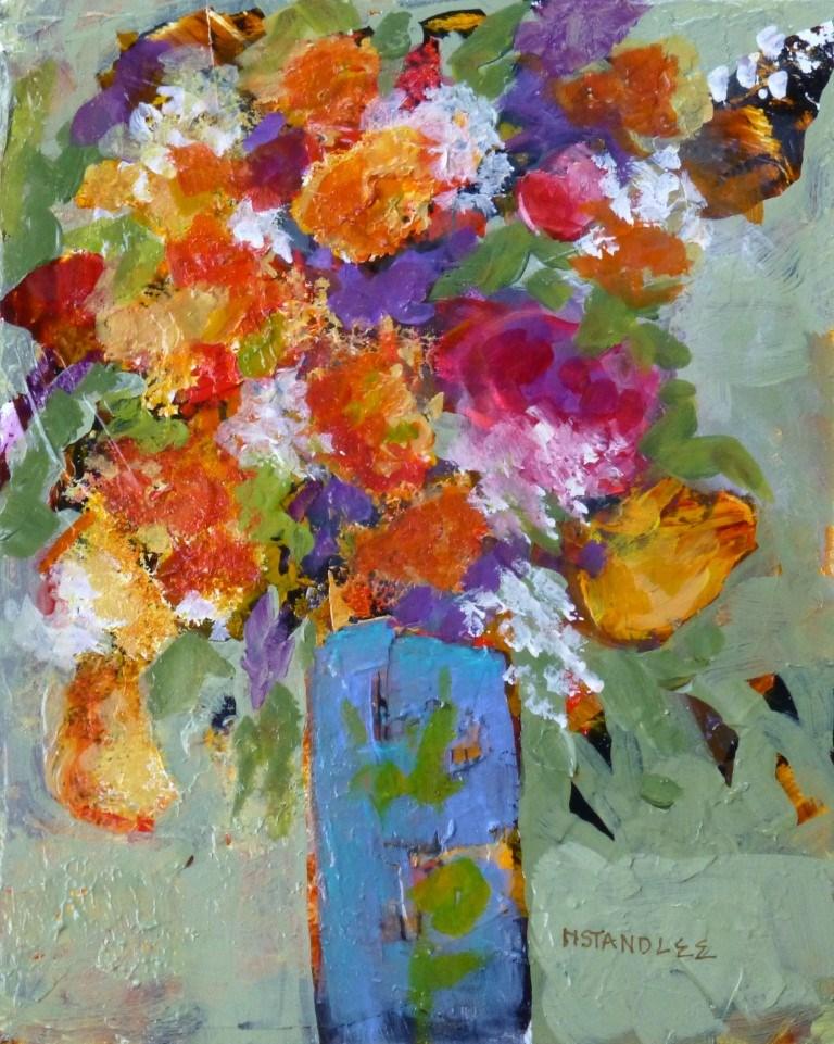 """Yellow Tulip 15015"" original fine art by Nancy Standlee"
