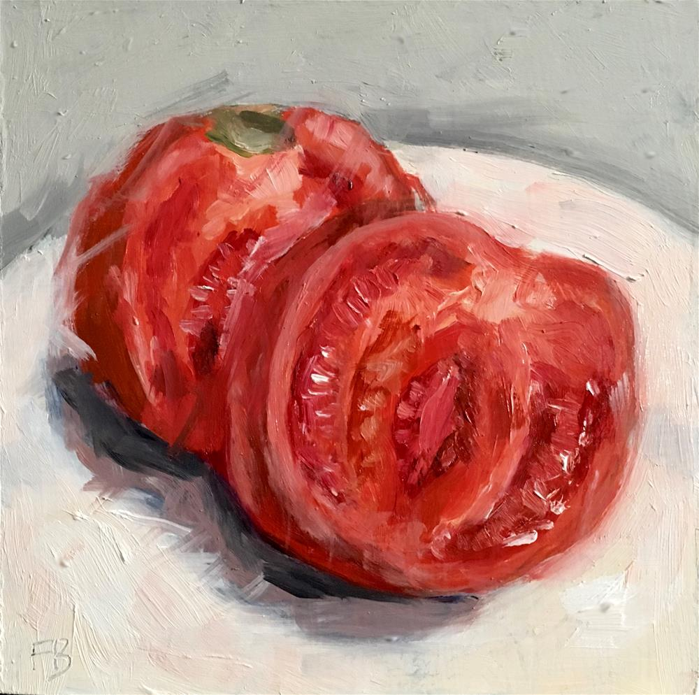 """088 Sliced Tomato"" original fine art by Fred Bell"