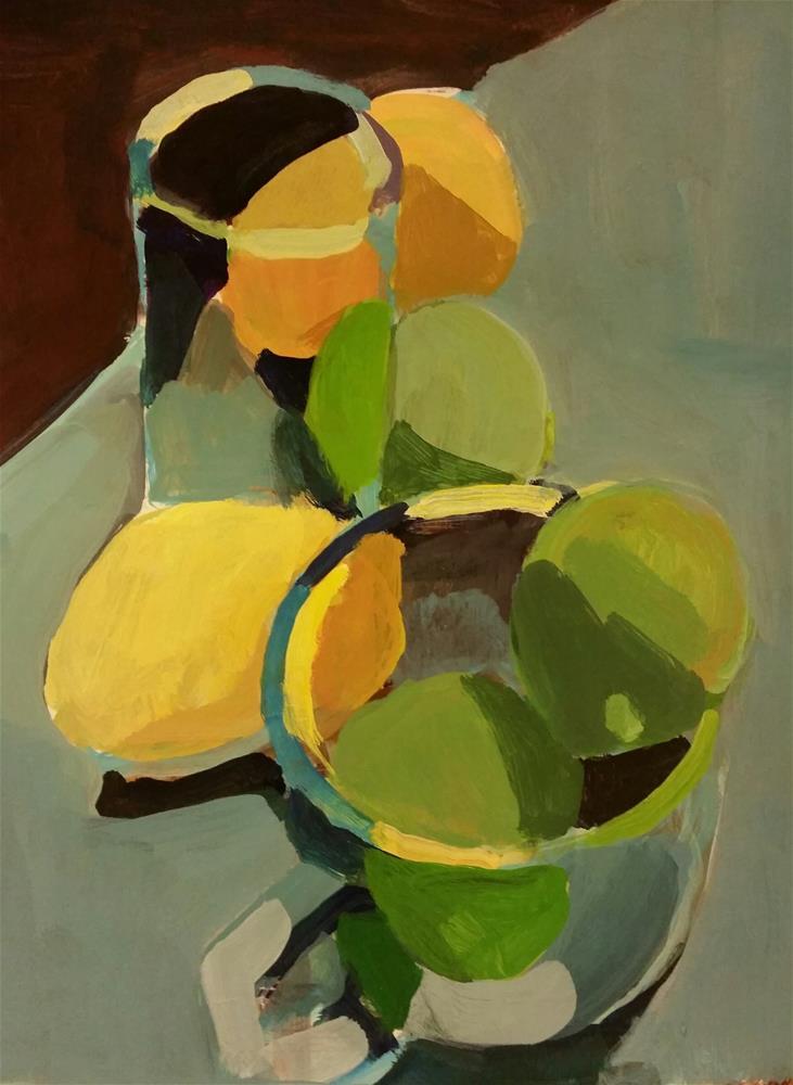 """Citrus Arrangement"" original fine art by Liz Maynes"