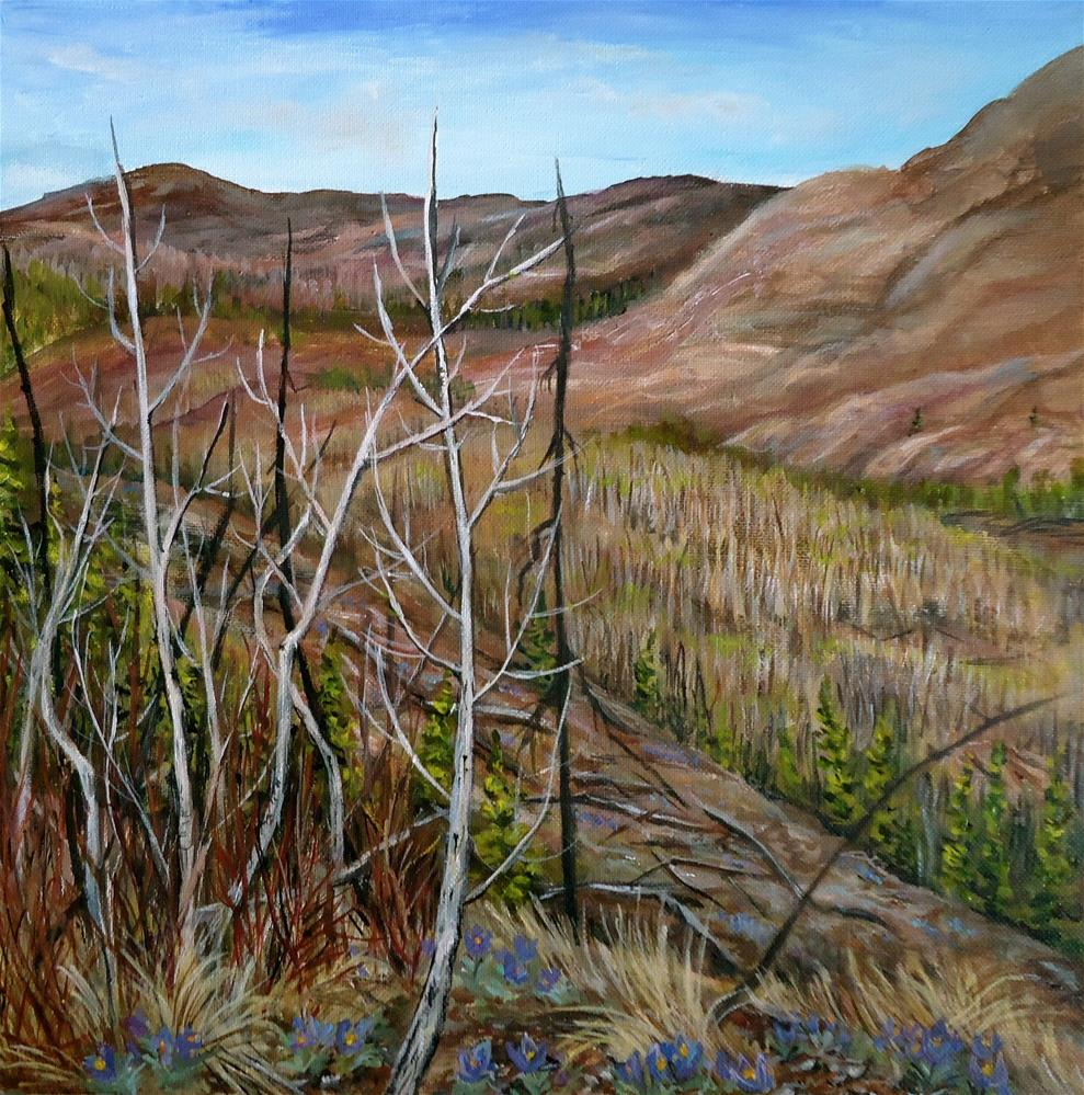 """Mount Mye Spring View"" original fine art by Jackie Irvine"