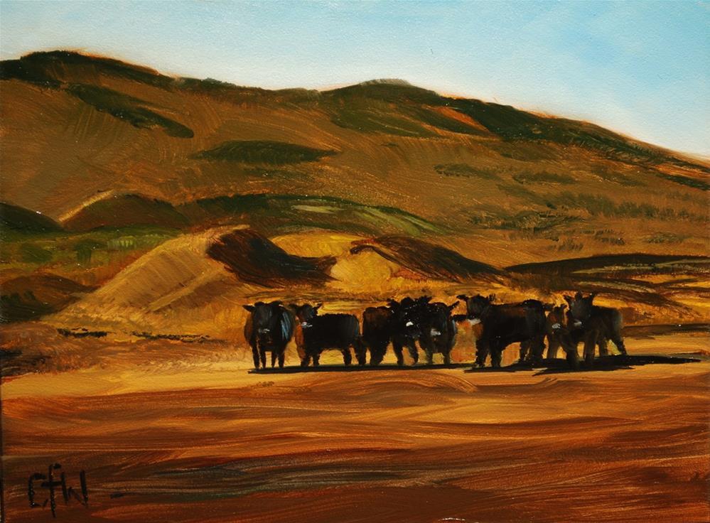 """Cow Henge"" original fine art by Gary Westlake"