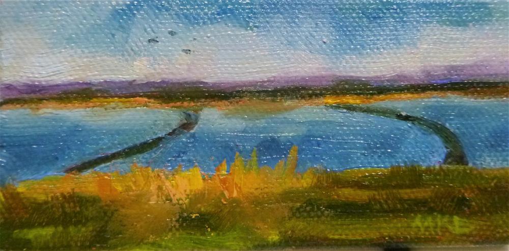 """""""Rice Fields Flooded, 2016"""" original fine art by Marlene Lee"""