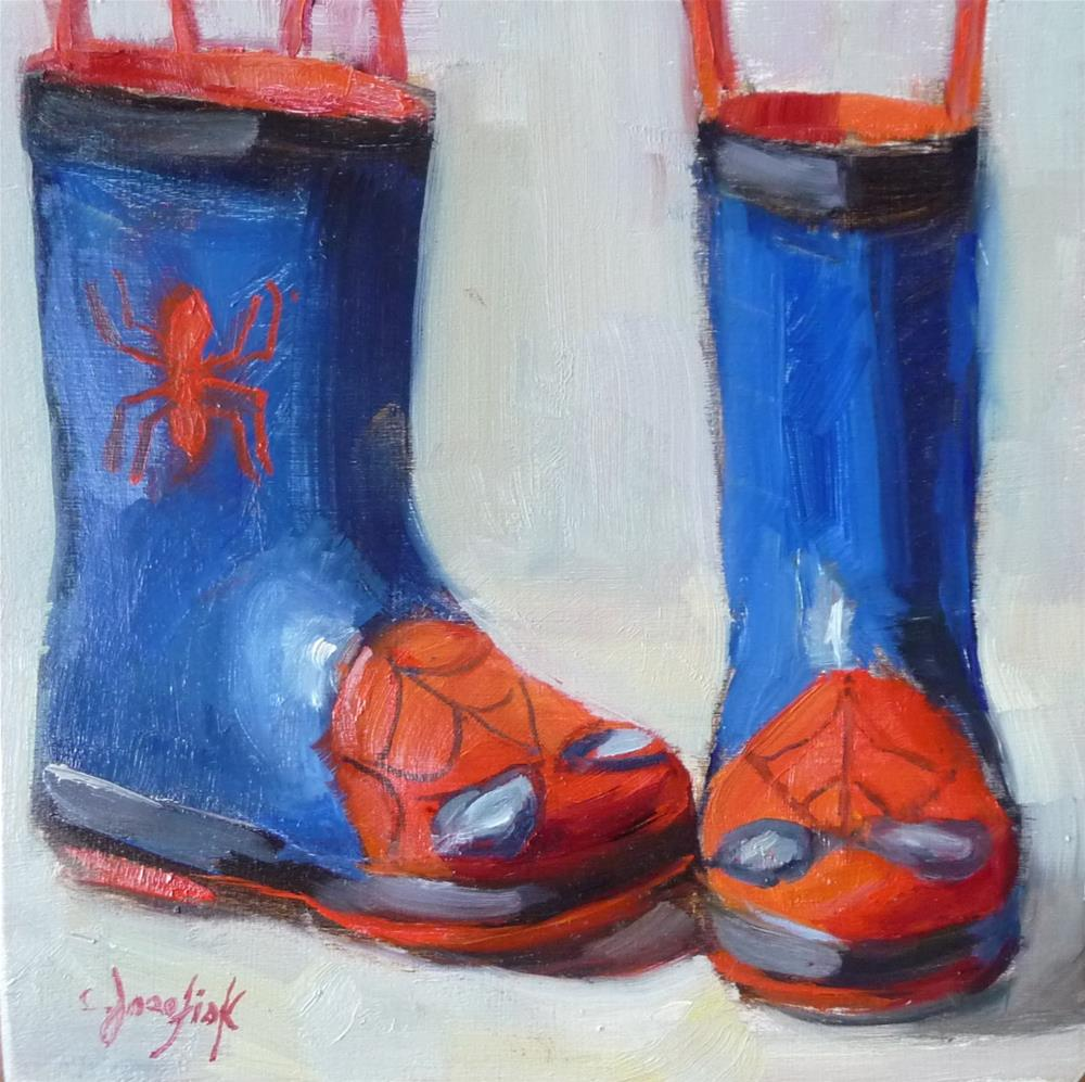 """Spiderman"" original fine art by Carol Josefiak"