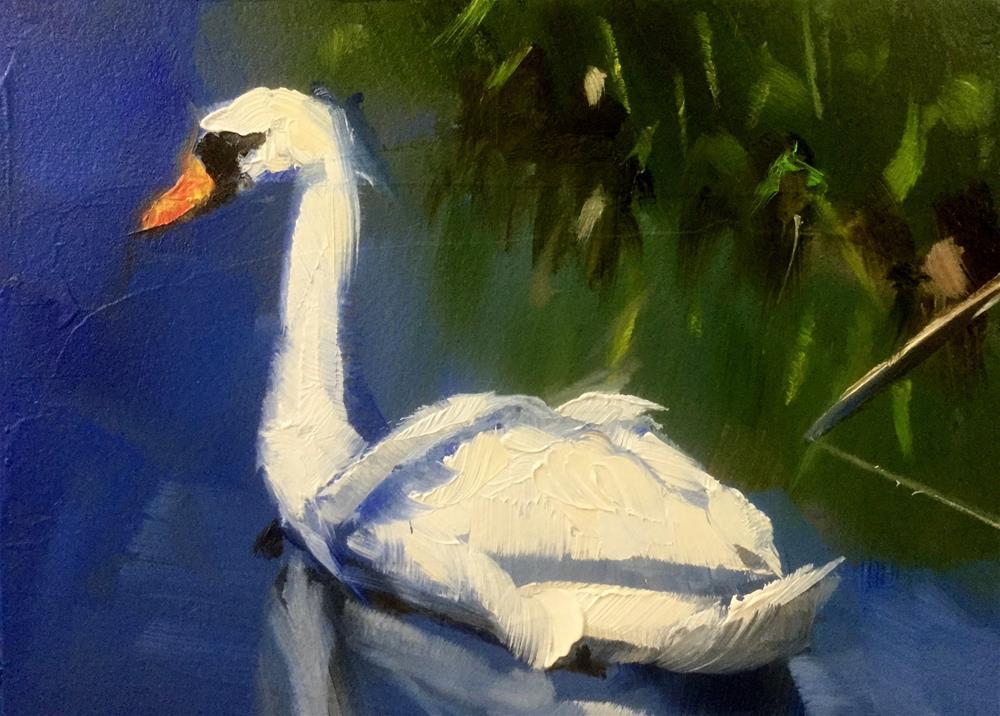 """Impression of A Swan"" original fine art by Gary Bruton"