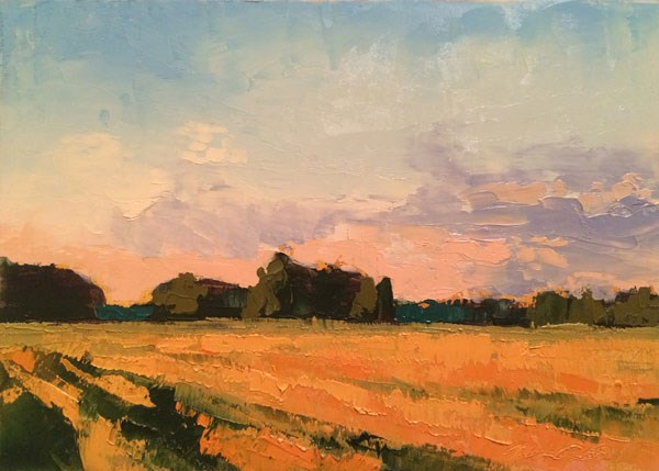 """""""Fall Fields, Early Evening"""" original fine art by Mary Gilkerson"""