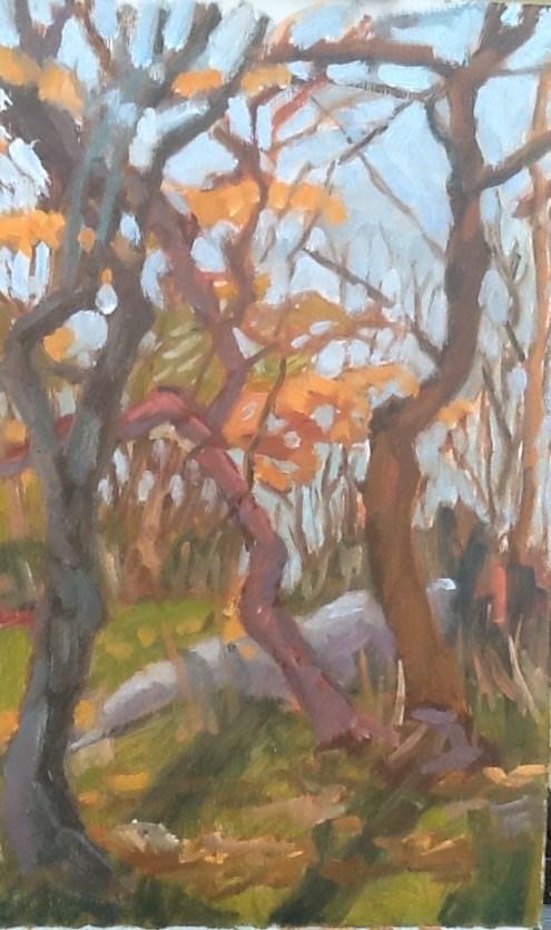 """Warm October"" original fine art by Elizabeth Bish"