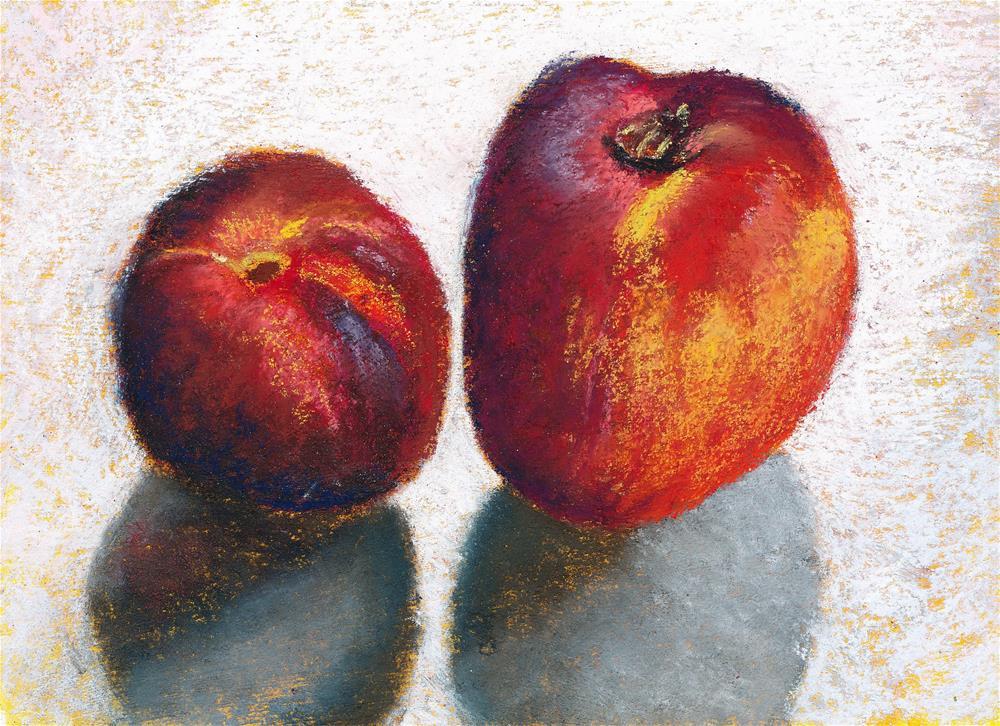 """""""Nectarines"""" original fine art by Christine Derrick"""