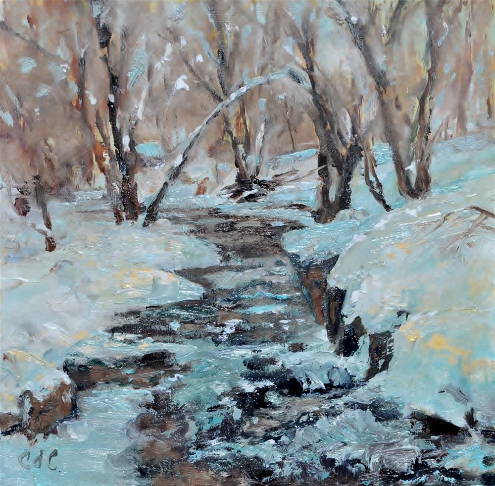 """Frosty Millcreek"" original fine art by Catherine Crookston"