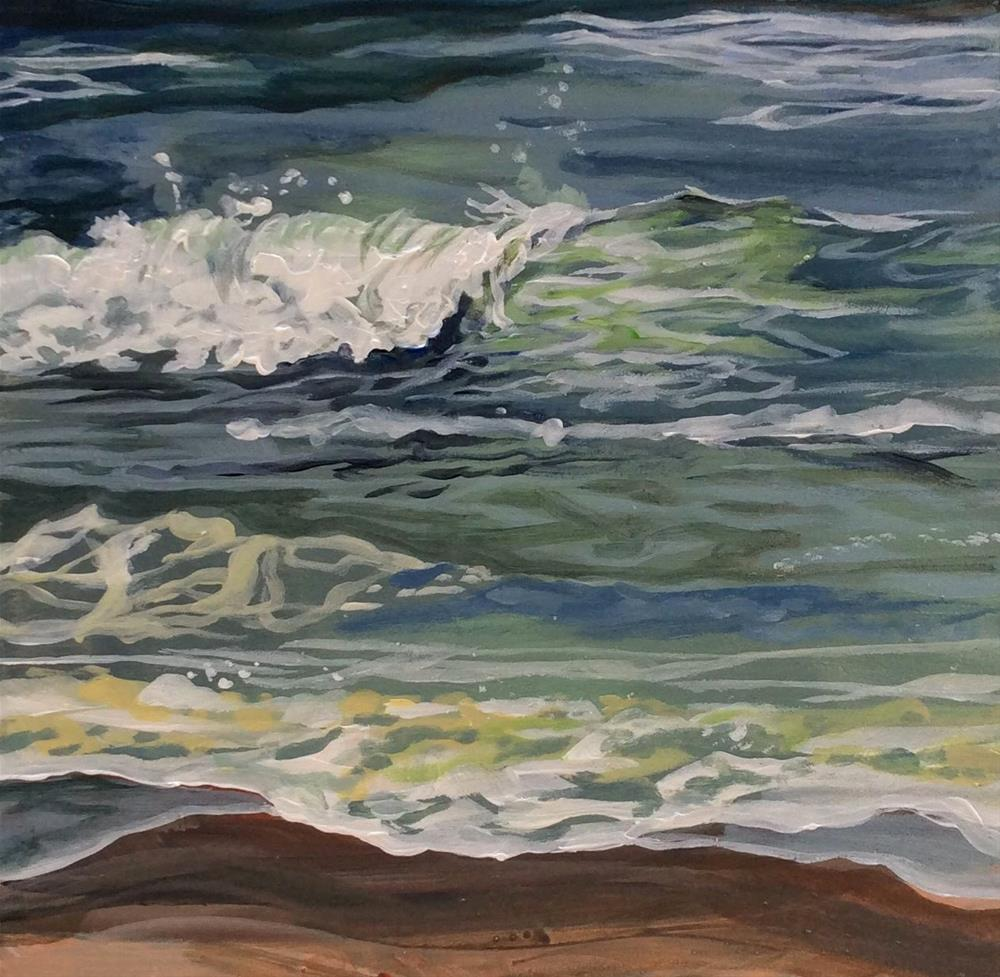 """Make Some Waves"" original fine art by Lauren Kuhn"