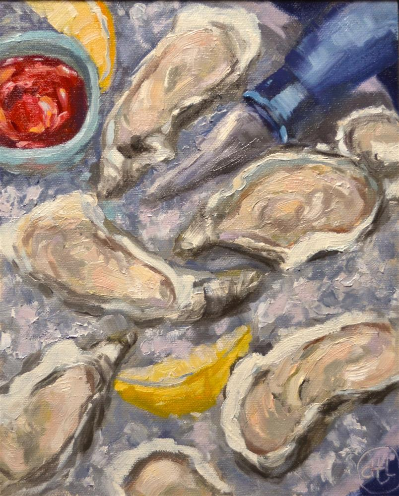 """life on the half shell"" original fine art by Dottie  T  Leatherwood"