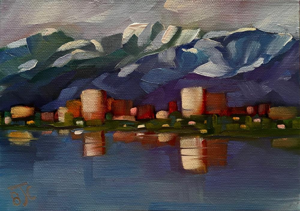 """""""The Colors of Anchorage"""" original fine art by Bobbie Cook"""