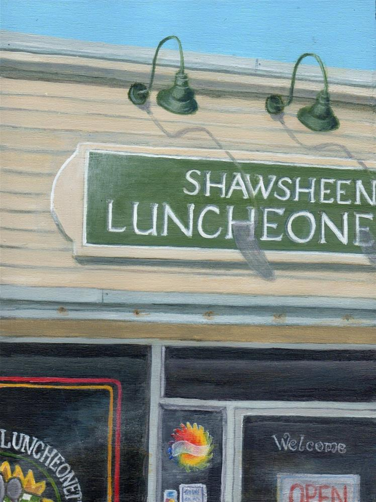 """Shawsheen Luncheonette v2"" original fine art by Debbie Shirley"