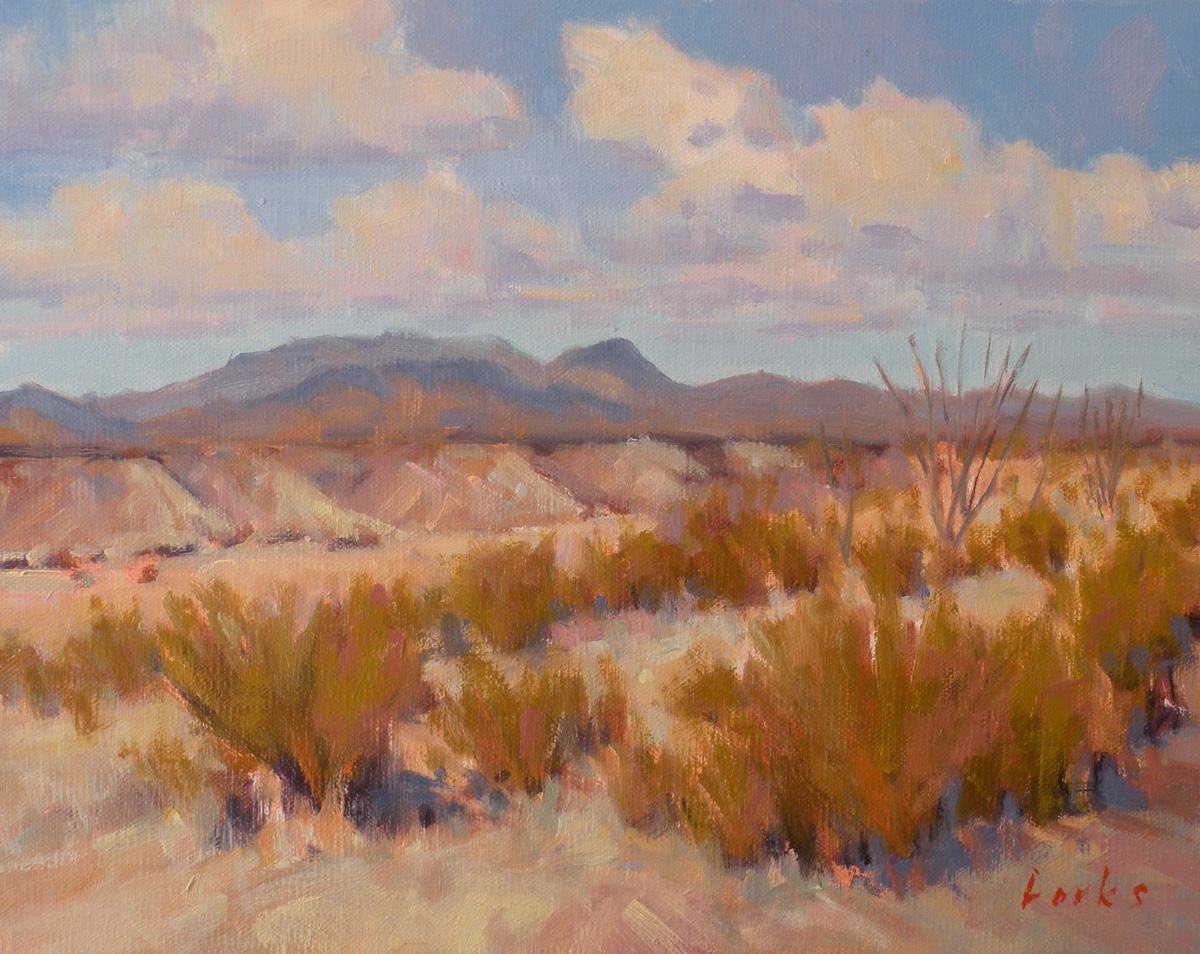 """""""Badlands"""" original fine art by David Forks"""