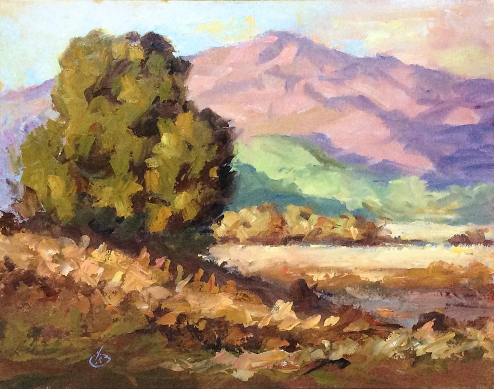 """SUNSET SERENITY"" original fine art by Tom Brown"