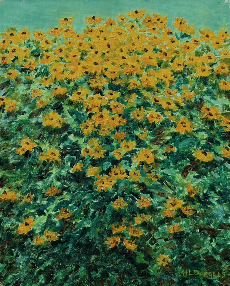 """Blackeyed Susans"" original fine art by Heather Douglas"