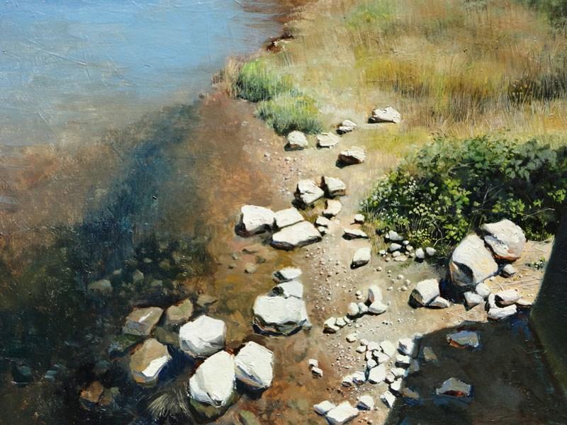 """""""Rocky Shore II"""" original fine art by Kirk Miller"""
