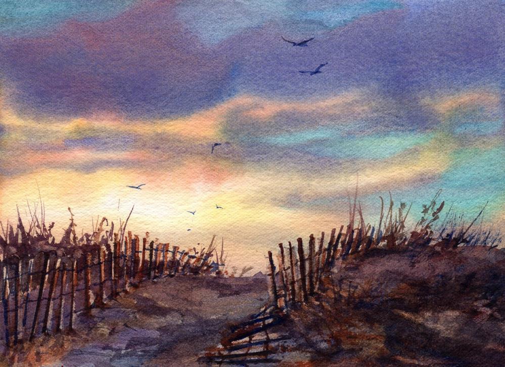 """The Last Light of Summer"" original fine art by Linda Henry"