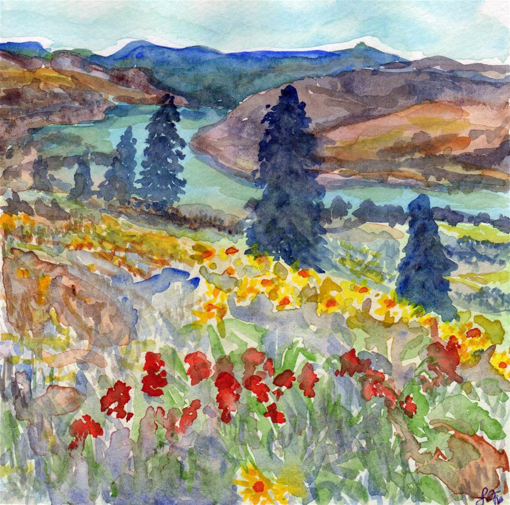 """Columbia Wild Flowers"" original fine art by Laura Denning"