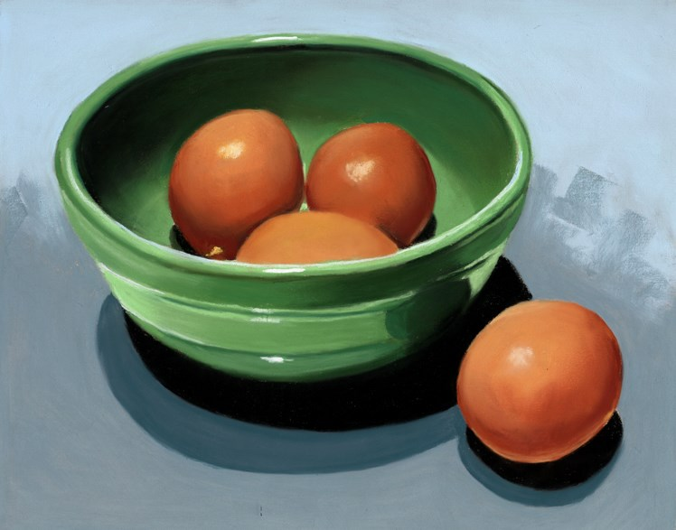 """Four Eggs"" original fine art by Ria Hills"