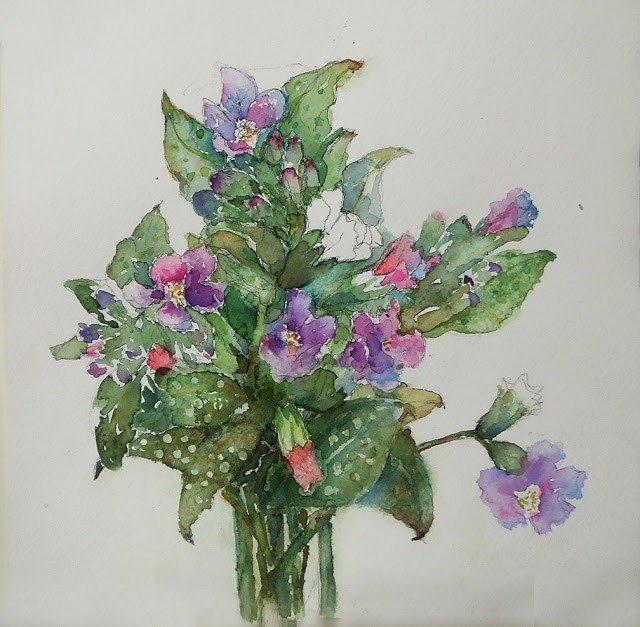 """12May016"" original fine art by Mitsuru Cope"