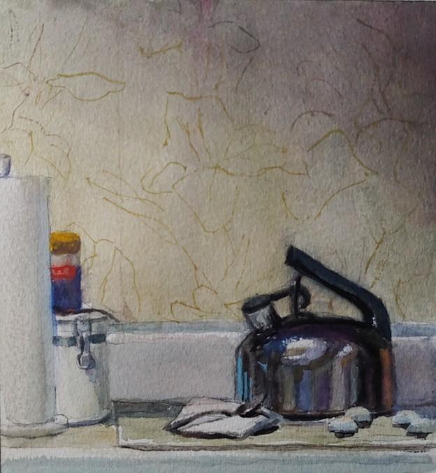 """""""Kettle 2/25/21"""" original fine art by Edward Watson"""