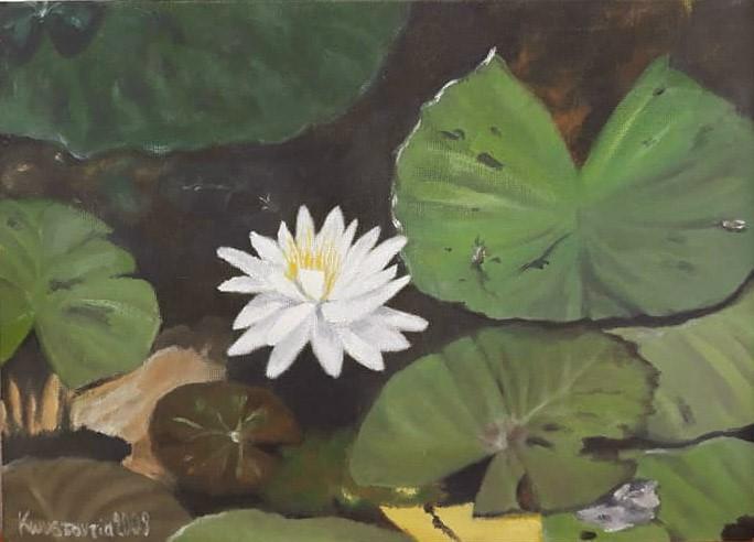 """lily and friends"" original fine art by Konstantia Karletsa"