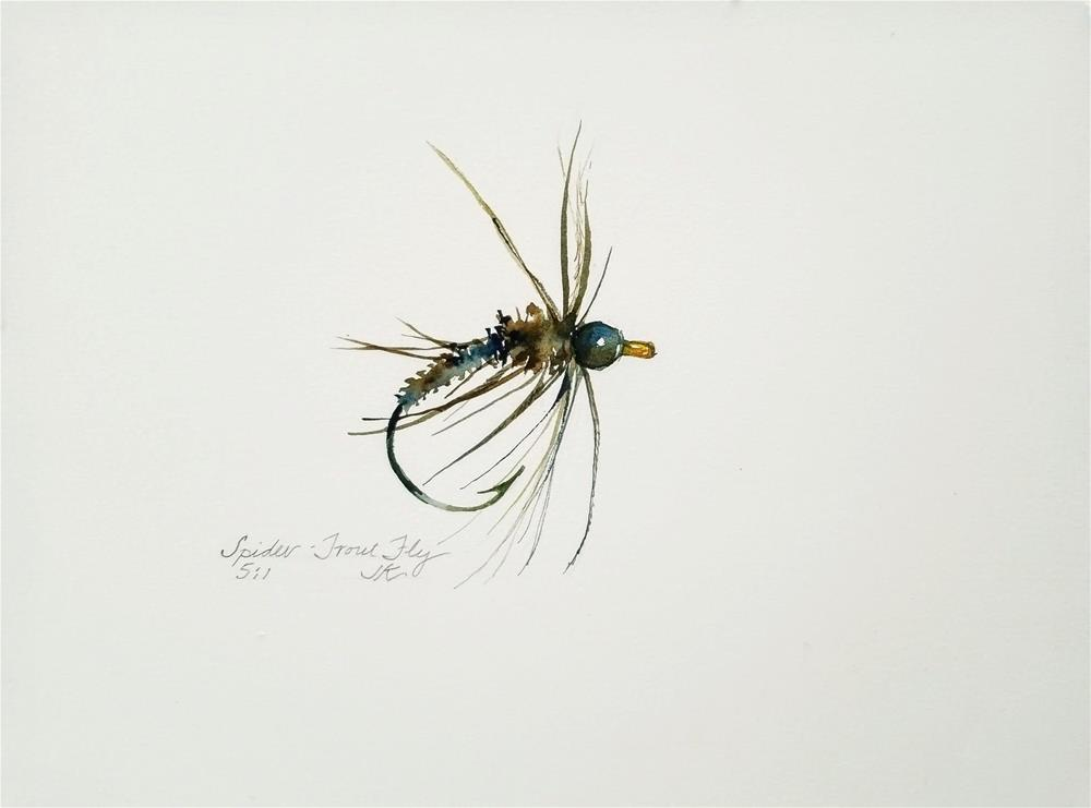 """Spider - Trout Fly"" original fine art by Jean Krueger"