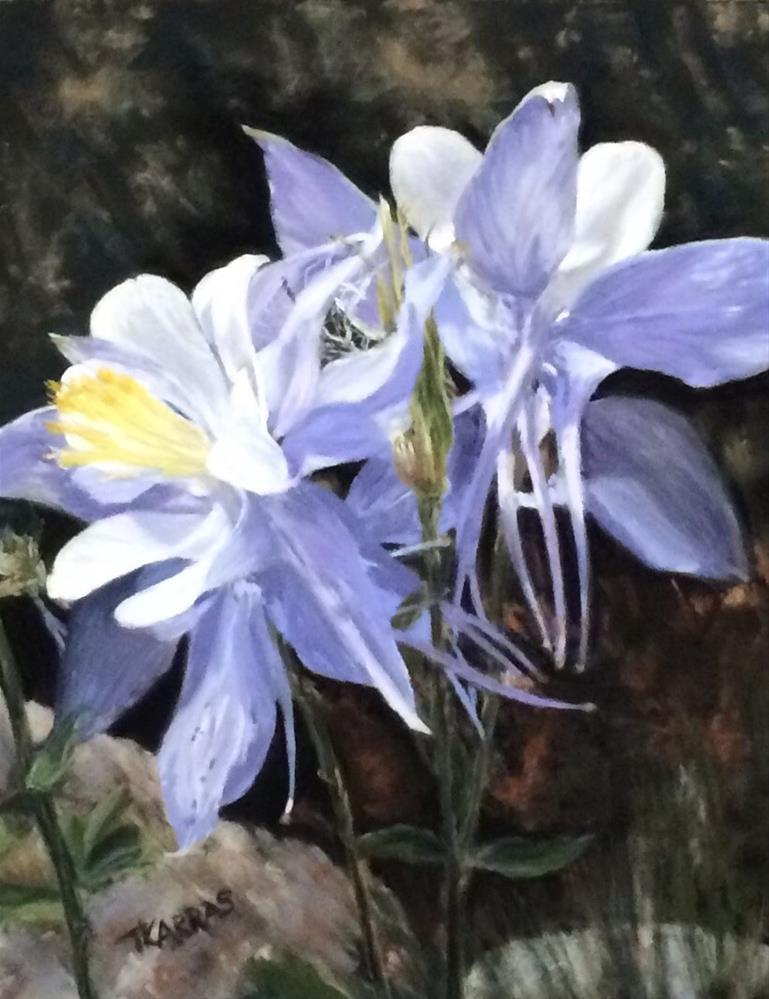 """Columbine be Mine"" original fine art by Christina Karras"