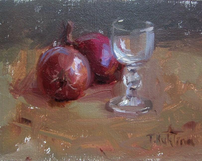 """chipollino onions"" original fine art by Taisia Kuklina"