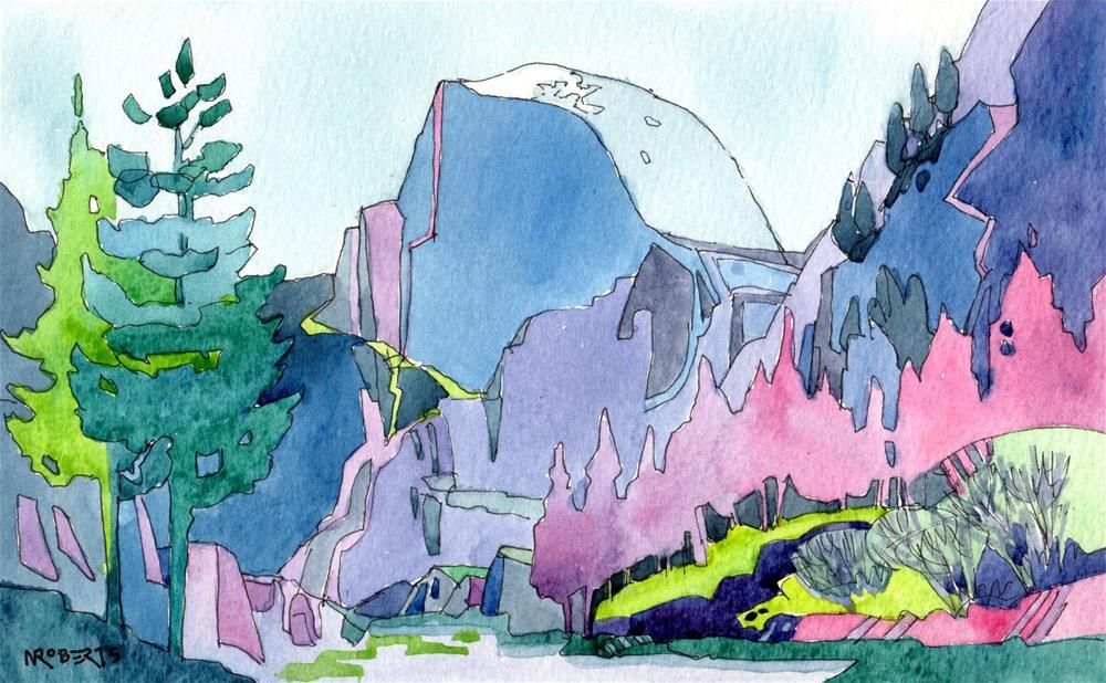 """Half Dome"" original fine art by Nancy Roberts"