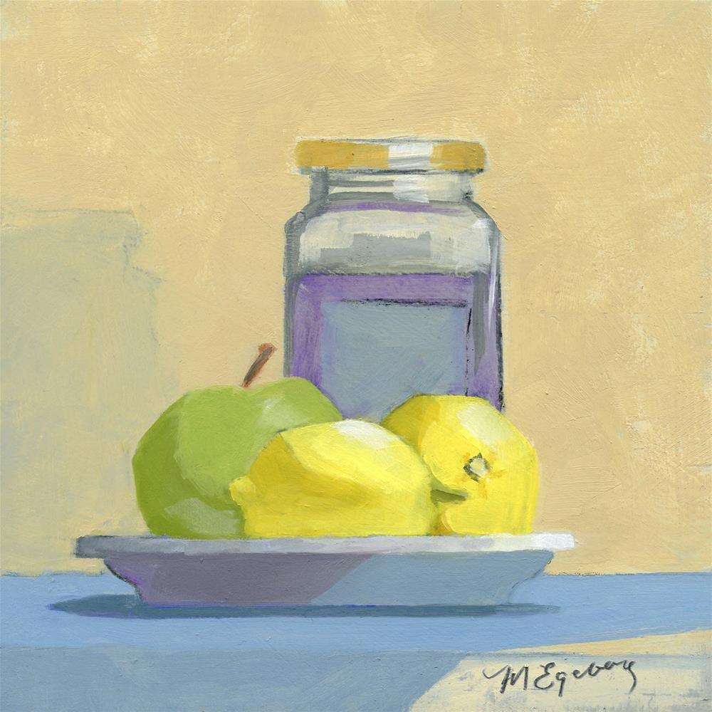 """Plate of Fruit"" original fine art by Mitch Egeberg"