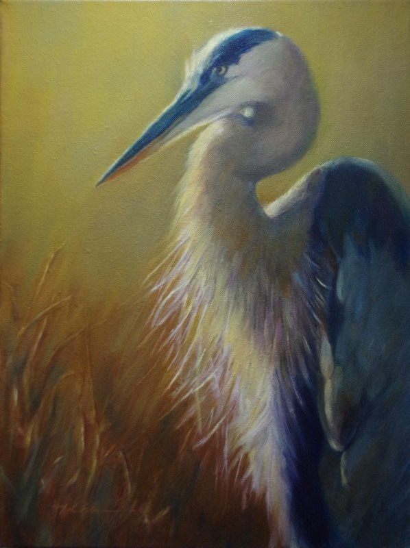 """""""The Fisher"""" original fine art by Marilyn R. Place"""