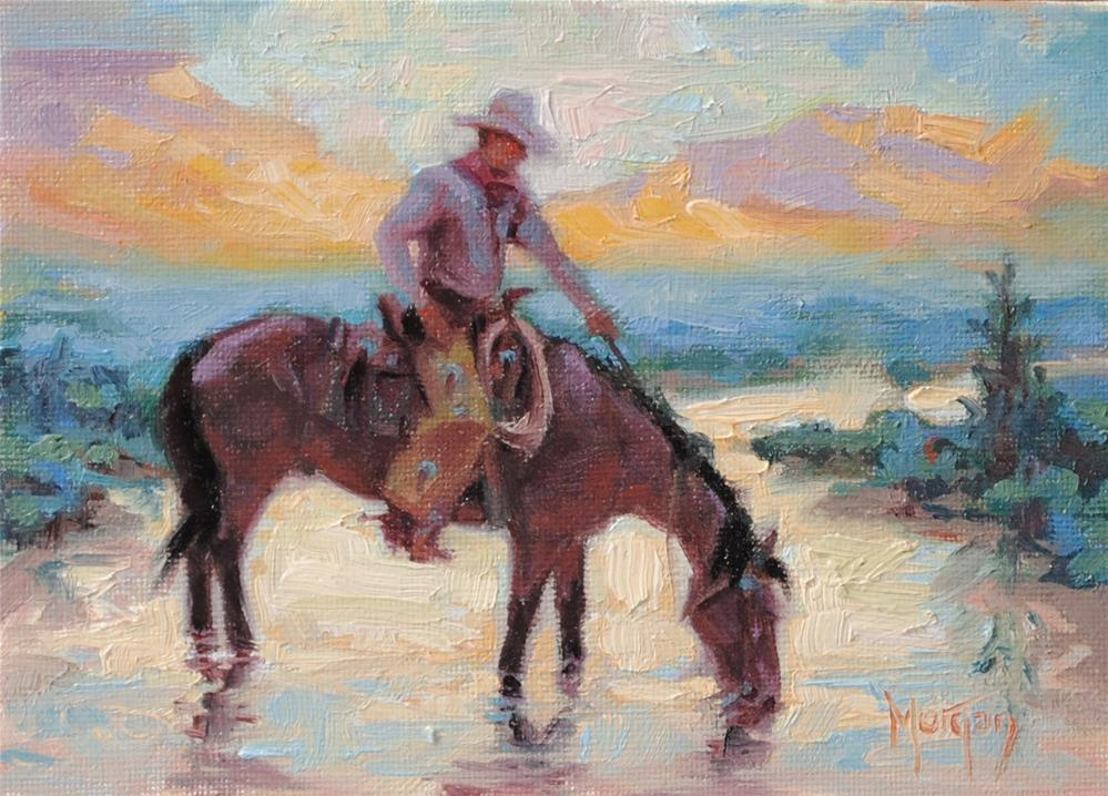 """Wrangler Memories #2"" original fine art by Cecile W. Morgan"