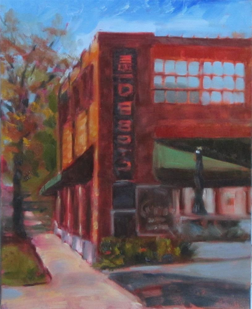 """""""Plein air today in Old Orchard in Webster"""" original fine art by Sandy Haynes"""