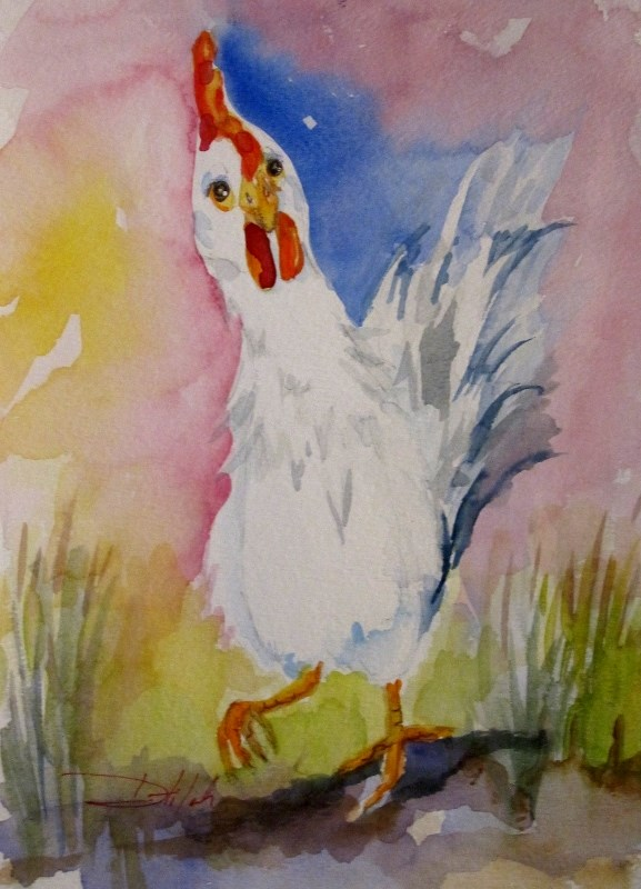 """""""Rooster No. 26"""" original fine art by Delilah Smith"""