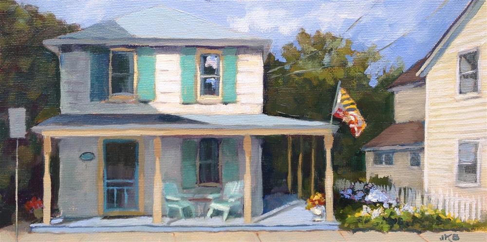 """Bohemia Street Bungalow"" original fine art by Jeanne Bruneau"