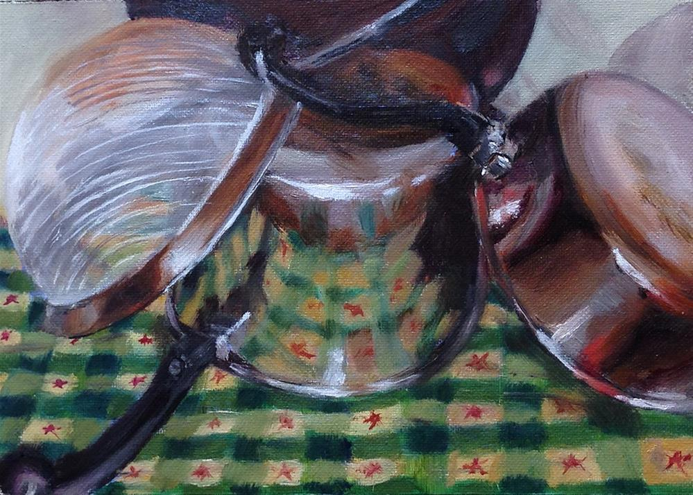 """""""Drying on the Counter"""" original fine art by Linda Lowery"""