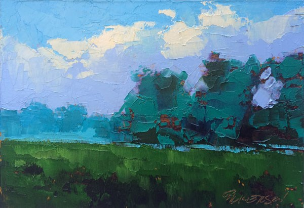 """""""Field and Smoke"""" original fine art by Mary Gilkerson"""