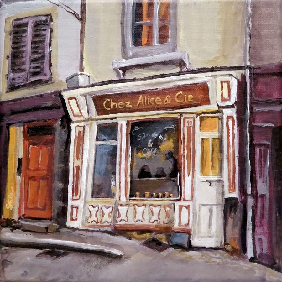 """""""1177 Chez Alice & Cie"""" original fine art by Dietmar Stiller"""