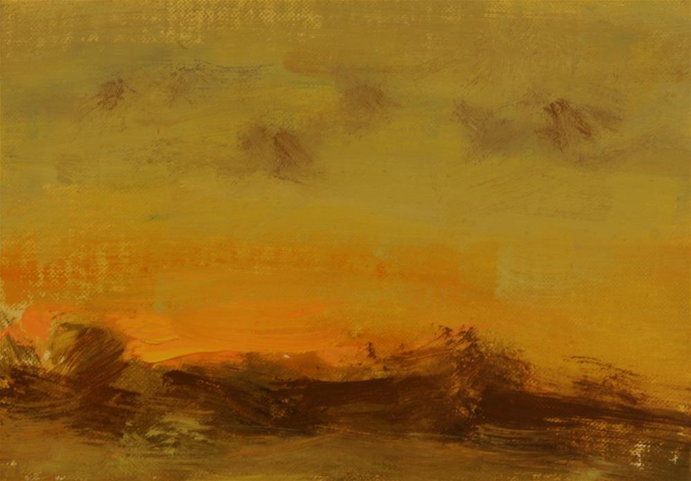 """""""Fall Sunset 03"""" original fine art by Scott Serafica"""