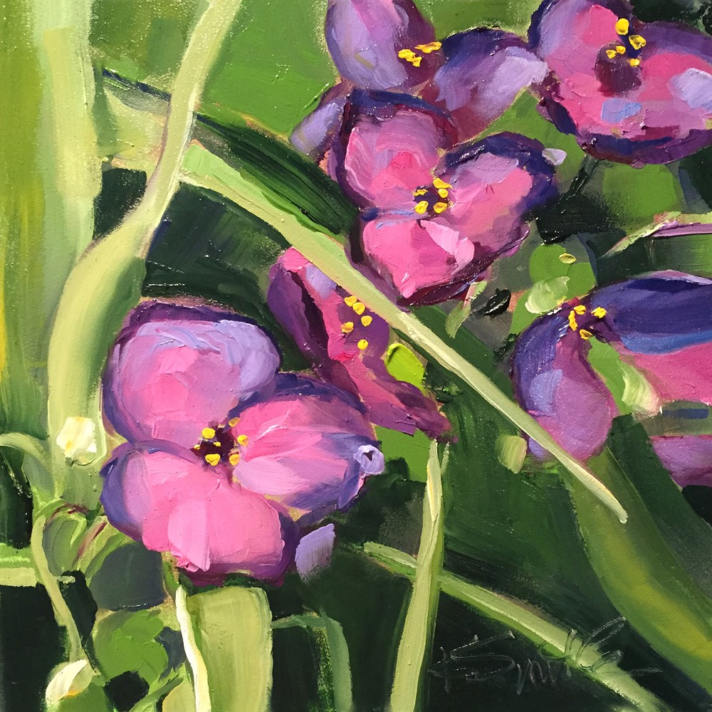 """""""spiderwort"""" original fine art by Kim Smith"""