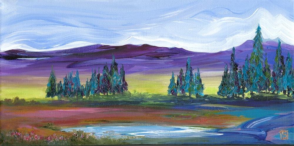 """4183 - Pine Lake - Exhibition Size"" original fine art by Sea Dean"