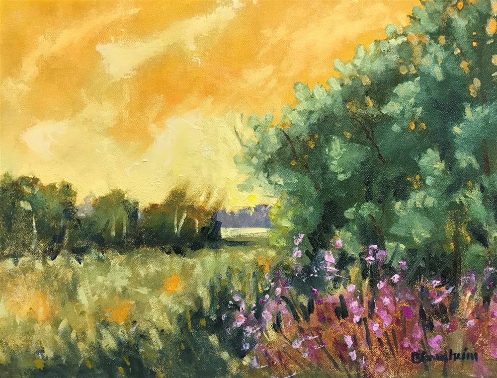"""Yellow Sky"" original fine art by Linda Blondheim"