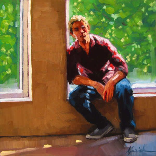 """Ledger"" original fine art by Karin Jurick"