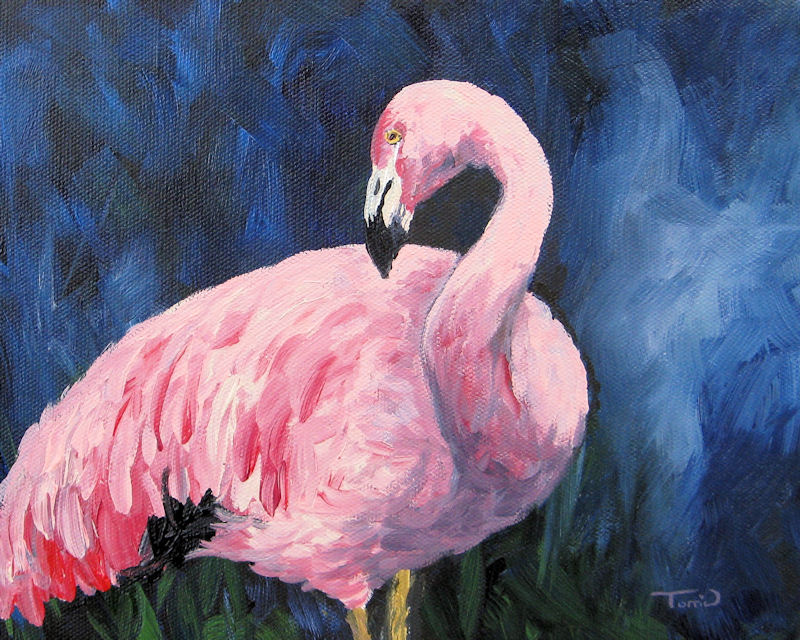 """""""Pink Flamingo III"""" original fine art by Torrie Smiley"""