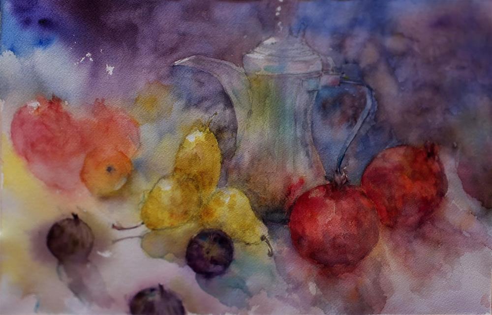 """Friday morning"" original fine art by Midori Yoshino"