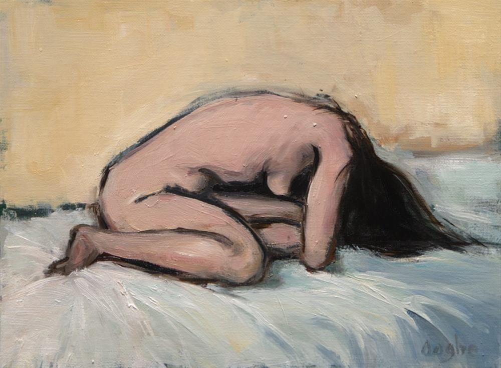 """""""Woman on Bed"""" original fine art by Angela Ooghe"""